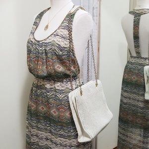 Vintage Whiting & Davis Ivory Mesh Shoulder Bag